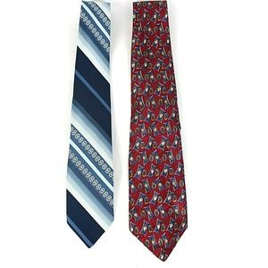 Van Heusen Lot of 2 Men's Designer Ties NWOT   448